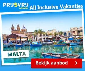 Prijsvrij all inclusive Malta banner