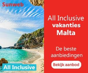 Sunweb all inclusive Malta banner