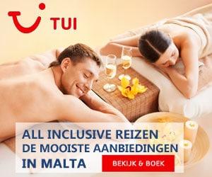 TUI all inclusive Malta banner